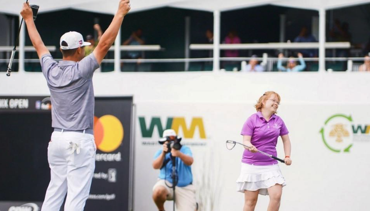 Amy Bockerstette connected with U.S. Open champion Gary Woodland from the First Coast home of PGA Tour caddie Paul Tesori